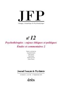 JFP 12 - PSYCHOTHERAPIES 2EME PARTIE