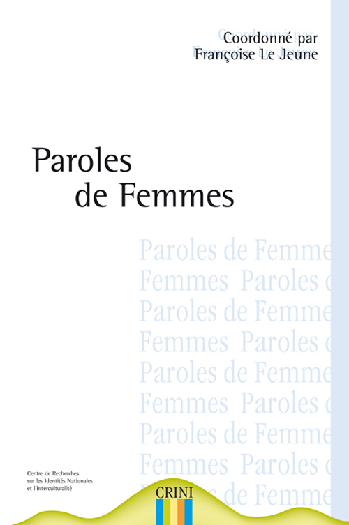 PAROLES DE FEMMES, HISTOIRES DE FEMMES