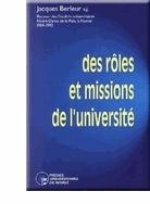 DES ROLES ET MISSIONS DE L'UNIVERSITE