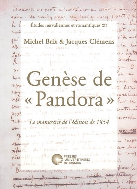 GENESE DE PANDORA. MANUSCRIT DE 1854