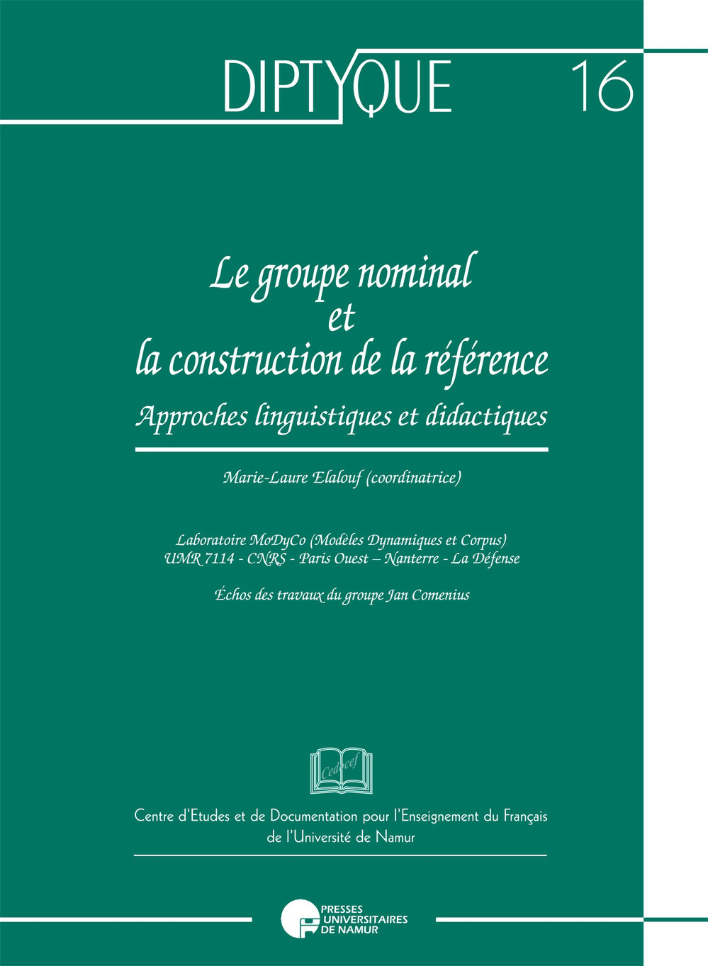 LE GROUPE NOMINAL ET LA CONSTRUCTION DE LA REFERENCE