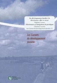 LES CARNETS DU DEVELOPPEMENT DURABLE -1