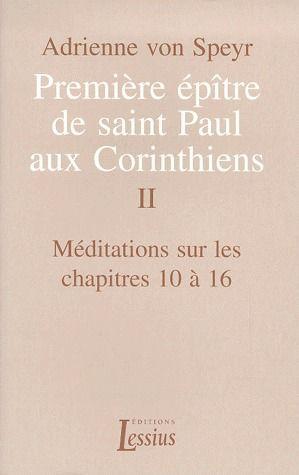 1ER EPITRE PAUL CORINTHIENS - TOME 2