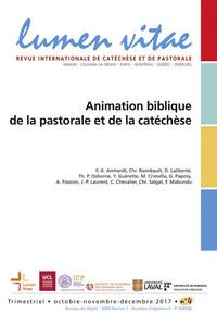 ANIMATION BIBLIQUE DE LA PASTORALE ET DE LA CATECHESE