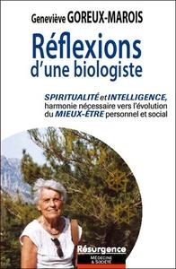 REFLEXIONS D'UNE BIOLOGISTE