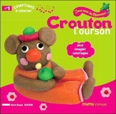 CROUTON L'OURSON (COMPTINES A COLORIER)