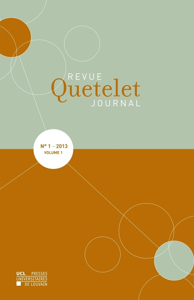REVUE QUETELET 1 2013