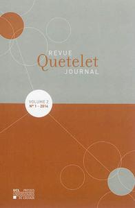 REVUE QUETELET = QUETELET JOURNAL, N 1 (2014)