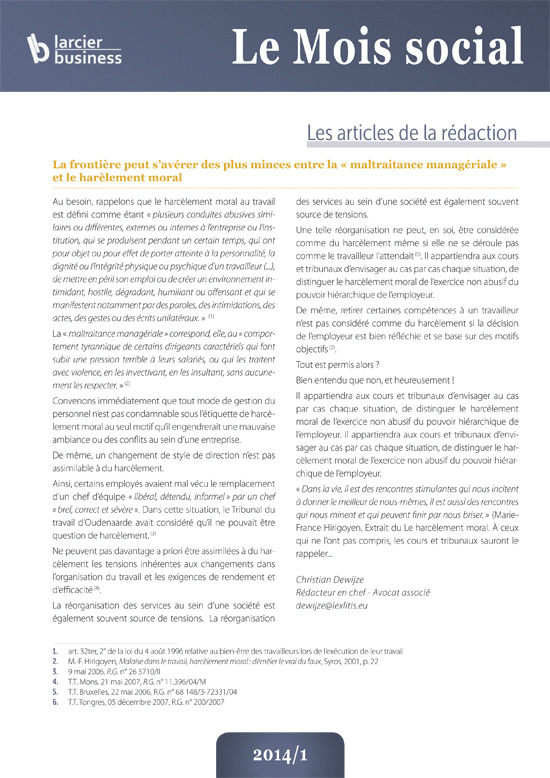 LE MOIS SOCIAL 2014/6