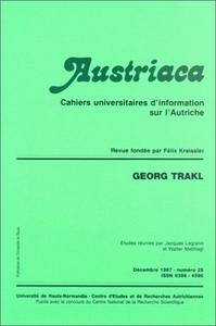 AUSTRIACA, N  25. GEORG TRAKL
