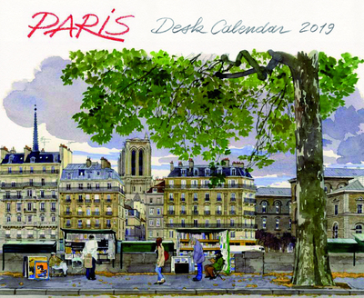 DESK CALENDAR PARIS 2019
