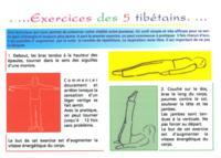 EXERCICES DES 5 TIBETAINS