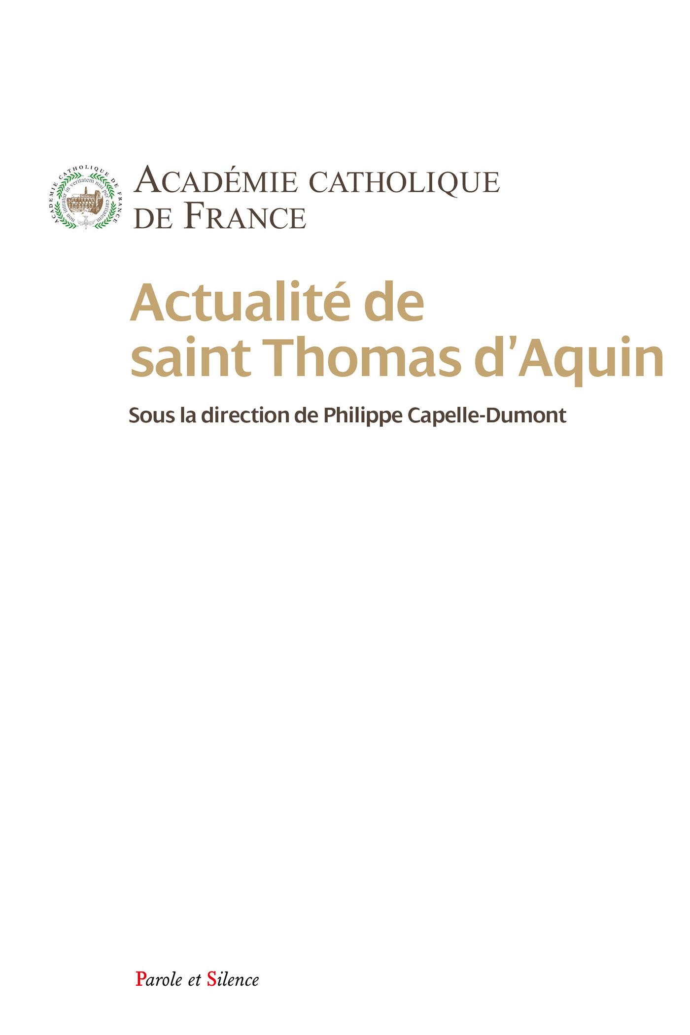 ACTUALITE DE SAINT THOMAS D'AQUIN