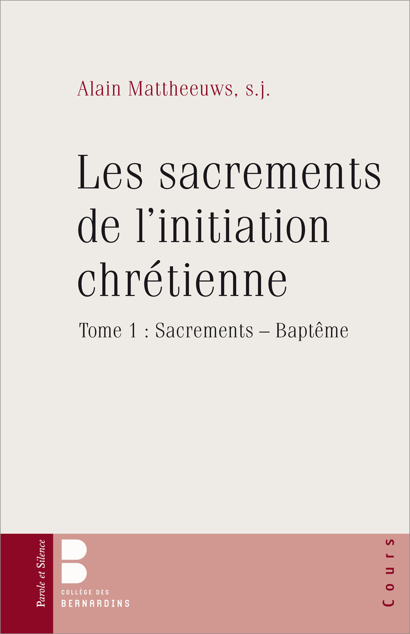 SACREMENTS DE L'INITIATION CHRETIENNE 1