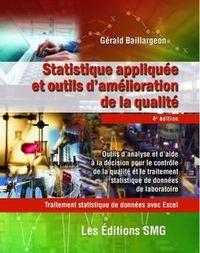 STATISTIQUE APPLIQUEE ET OUTILS D'AMELIORATION DE LA QUALITE. TRAITEMENT STATISTIQUE DE DONNEES AVEC