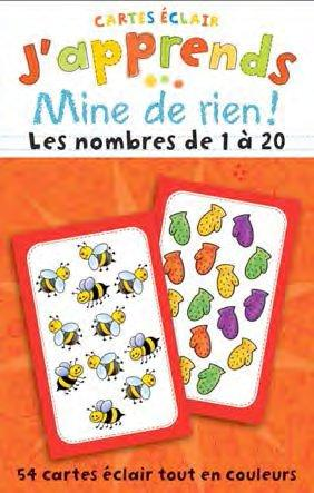 J'APPRENDS MINE DE RIEN! LES NOMBRES DE 1 A 20. 54 CARTES