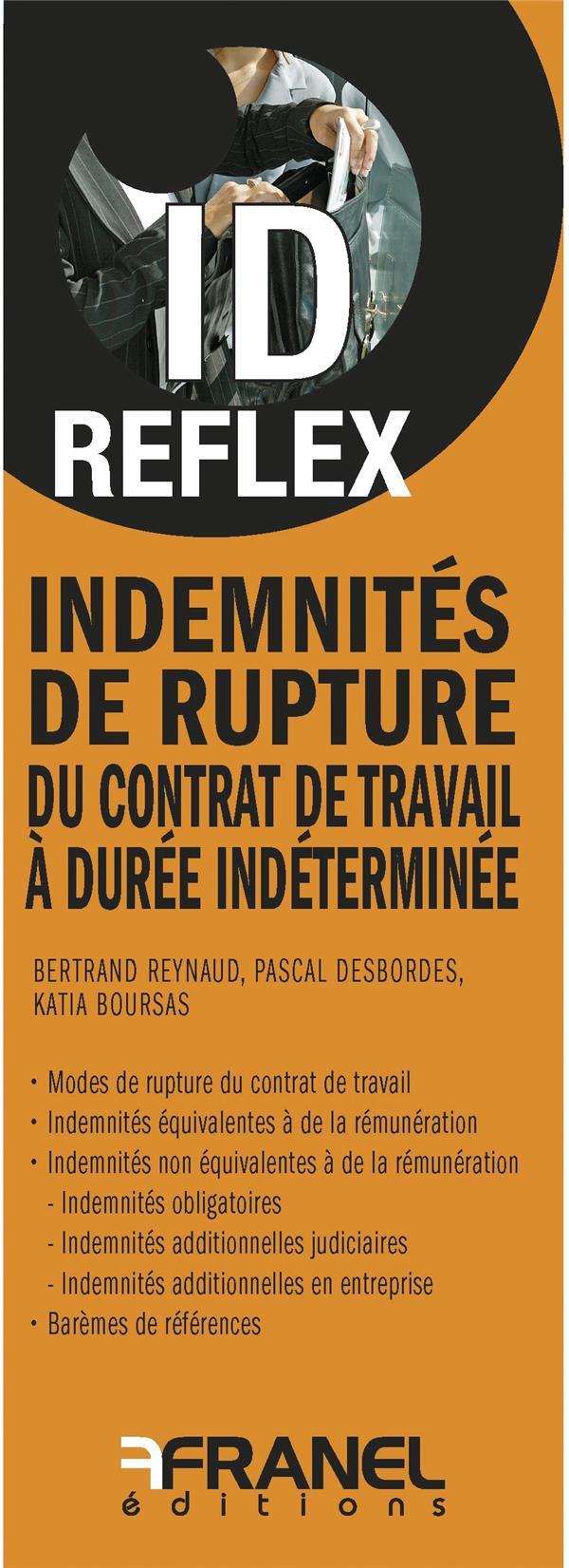ID REFLEX INDEMNITES DE RUPTURE DU CONTRAT DE TRAVAIL A DUREE INDETERMINEE