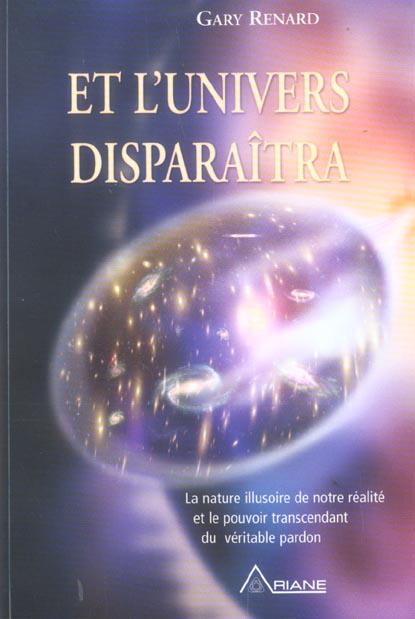 ET L'UNIVERS DISPARAITRA