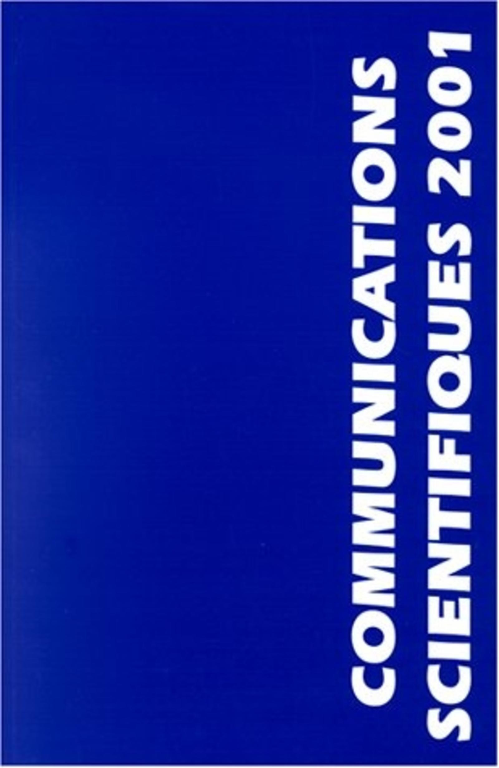 COMMUNICATIONS SCIENTIFIQUES MAPAR 2001