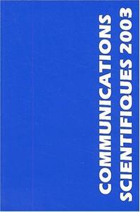 COMMUNICATIONS SCIENTIFIQUES MAPAR 2003