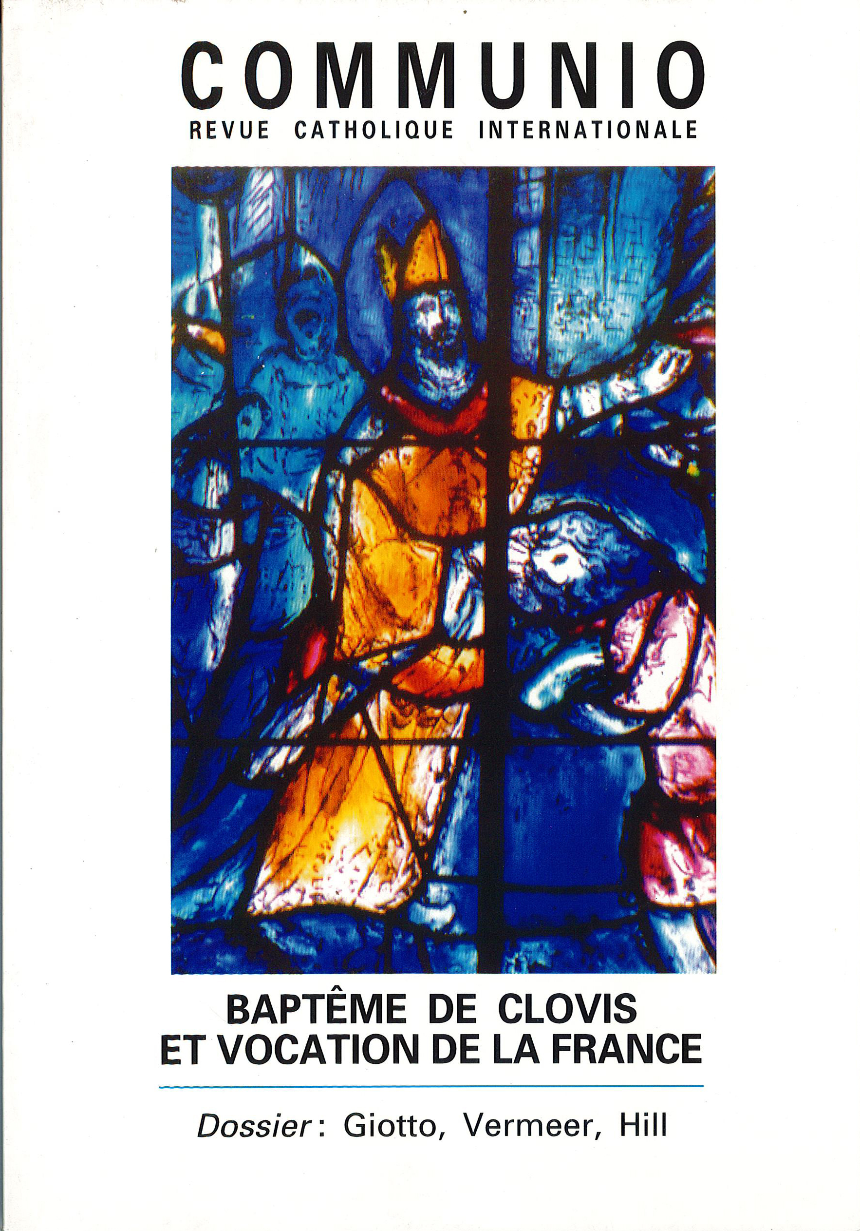 BAPTEME DE CLOVIS ET VOCATION DE LA FRANCE - N 125 (MAI-JUIN 1996)