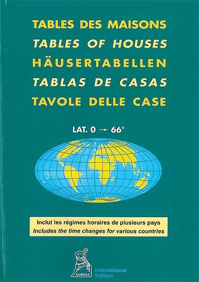TABLES DES MAISONS 0 A 66  (AUREAS)