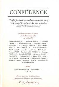 CONFERENCE N 24 - LE MILIEU II