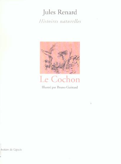 LE COCHON, HISTOIRES NATURELLES