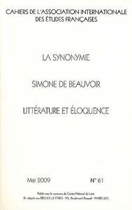 C.A.I.E.F. N 61 - LA SYNONYMIE / SIMONE DE BEAUVOIR / LITTERAT