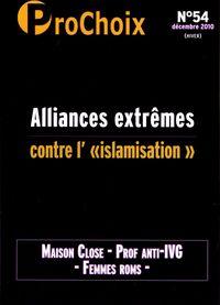 PROCHOIX N 54 - ALLIANCES EXTREMES CONTRE L ISLAMISATION.