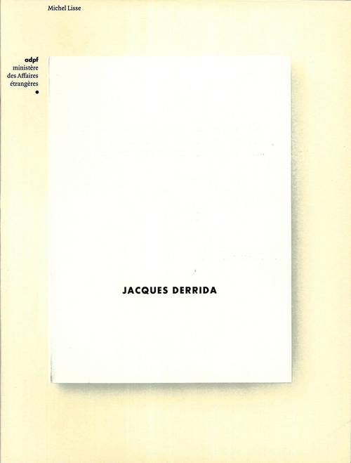 JACQUES DERRIDA - MINISTERE DES AFFAIRES ETRANGERES
