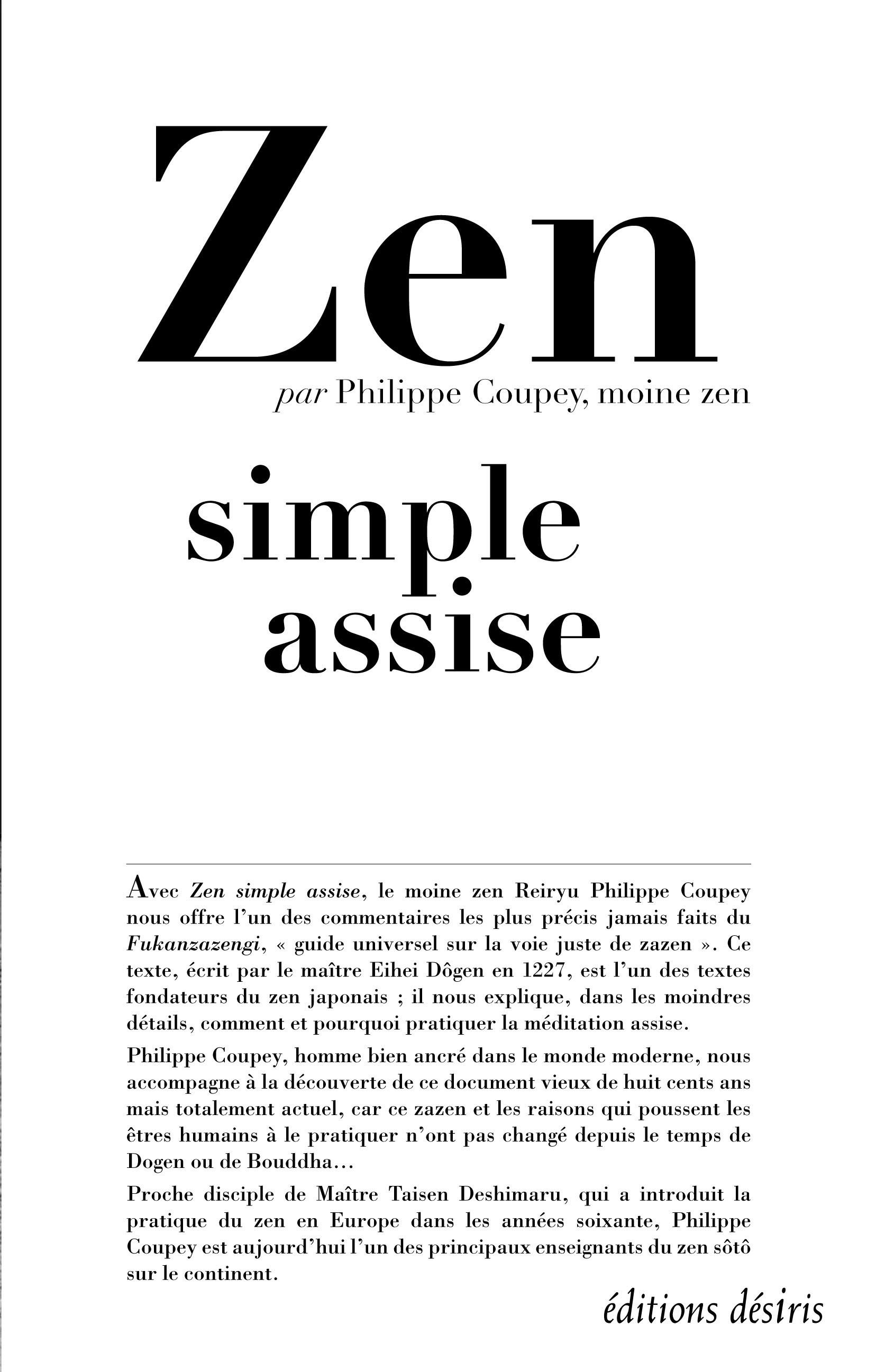 ZEN SIMPLE ASSISE