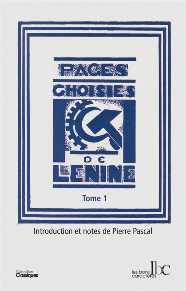 PAGES CHOISIES T01 1893-1904