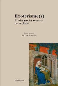 EXOTERISME(S) ETUDES SUR LES RESSORTS DE LA CLARTE