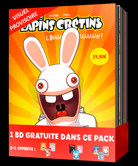 BANDE DESSINEE - PACK 2+1 LAPINS CRETINS #1 (T1 A T3)