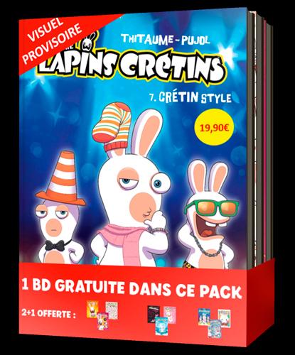 BANDE DESSINEE PACK 2+1 LAPINS CRETINS #3 (T7 A T9)