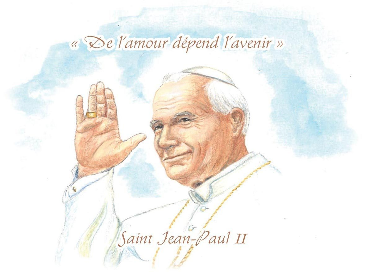 "IMAGES SAINTES ""JEAN-PAUL II"" PAR LOT DE 10"