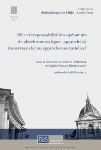 ROLE ET RESPONSABILITE DES OPERATEURS DE PLATEFORME EN LIGNE : ...