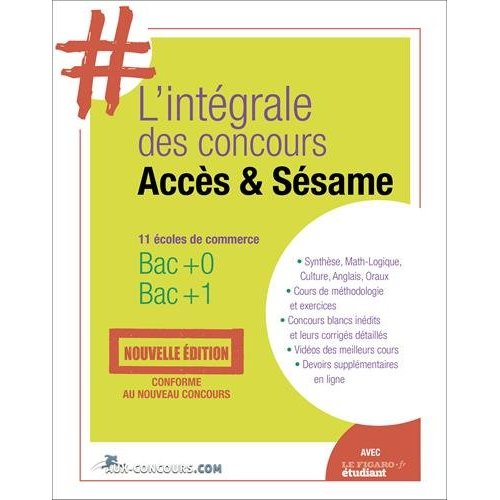 L INTEGRALE ACCES SESAME  11 ECOLES DE COMMERCE