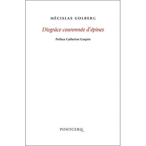 DISGRACE COURONNEE D'EPINES