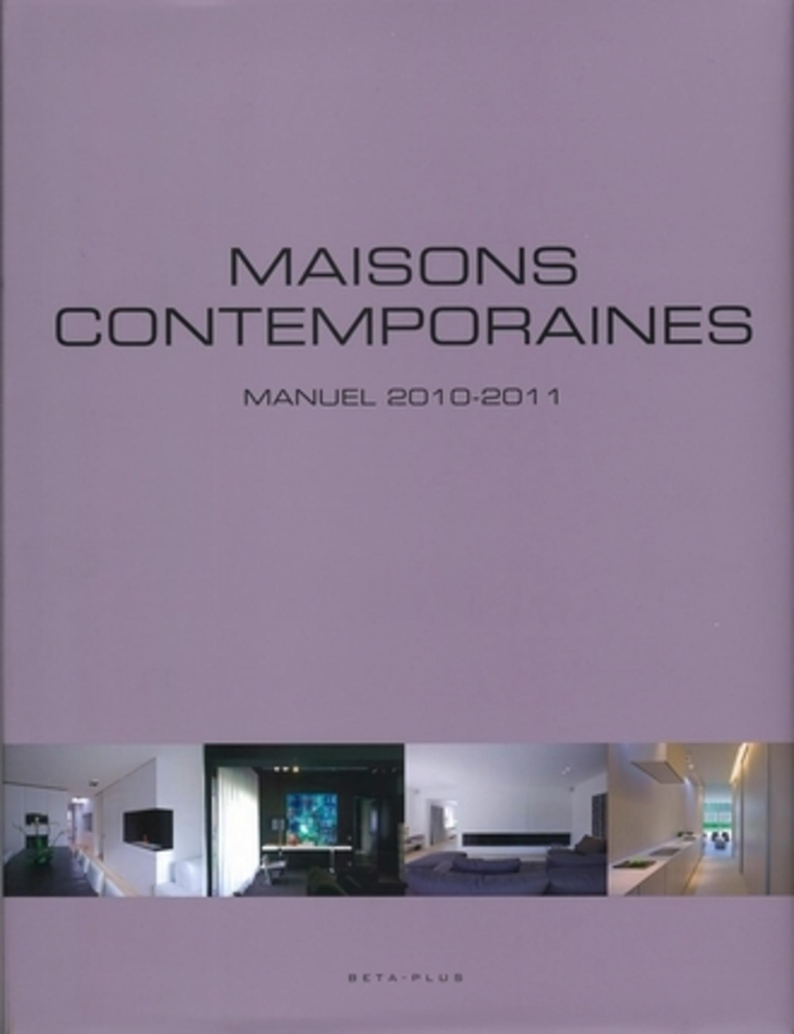 MAISONS CONTEMPORAINES. MANUEL 2010-2011 - OUVRAGE MULTILINGUE