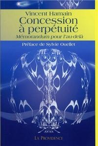 CONCESSION A PERPETUITE - MEMORANDUM POUR L'AU-DELA