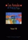 LES ANNALES DE L'EPM - VOLUME VIII. TRAVAUX DE L'ANNEE 2001
