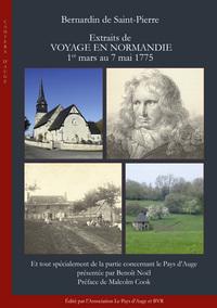BERNARDIN DE SAINT-PIERRE. EXTRAITS DE VOYAGE EN NORMANDIE. 1ER MARS AU 7 MAI 1775