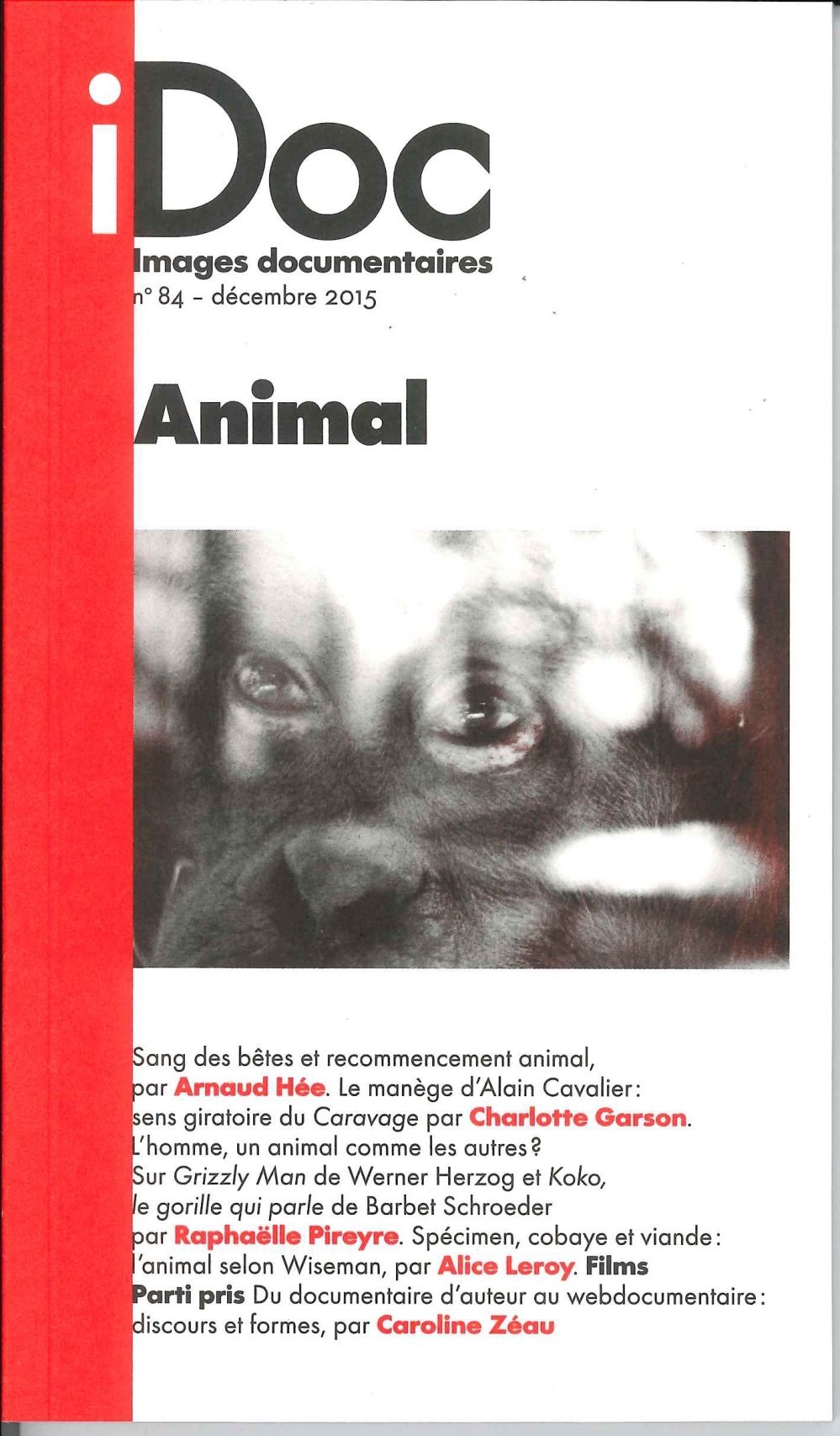 IMAGES DOCUMENTAIRES N 84 ANIMAL DECEMBRE 2015