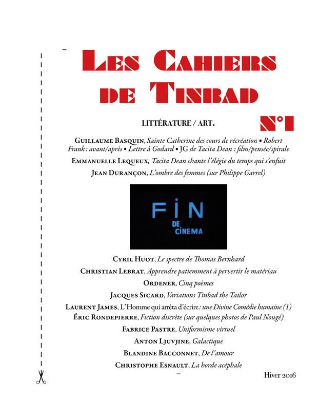 LES CAHIERS DE TINBAD N 1