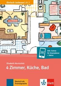 4 ZIMMER, KUCHE, BAD (NIVEAU A12) - LIVRE + MP3 TELECHARGEABLE