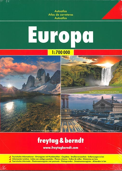 EUROPE, ROAD ATLAS