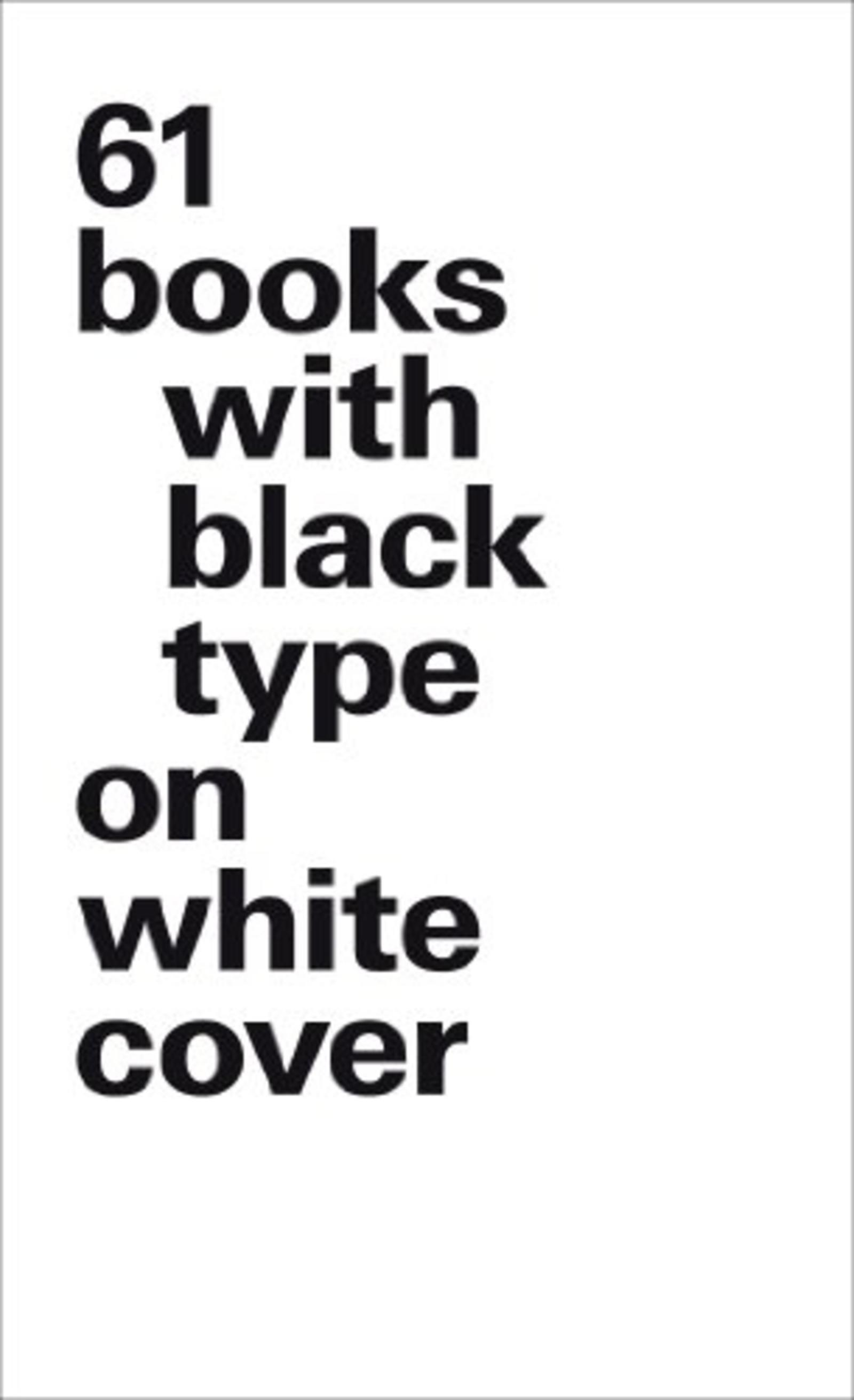 VERSION LUXE 61 BOOKS WITH BLACK TYPE ON WHITE COVER