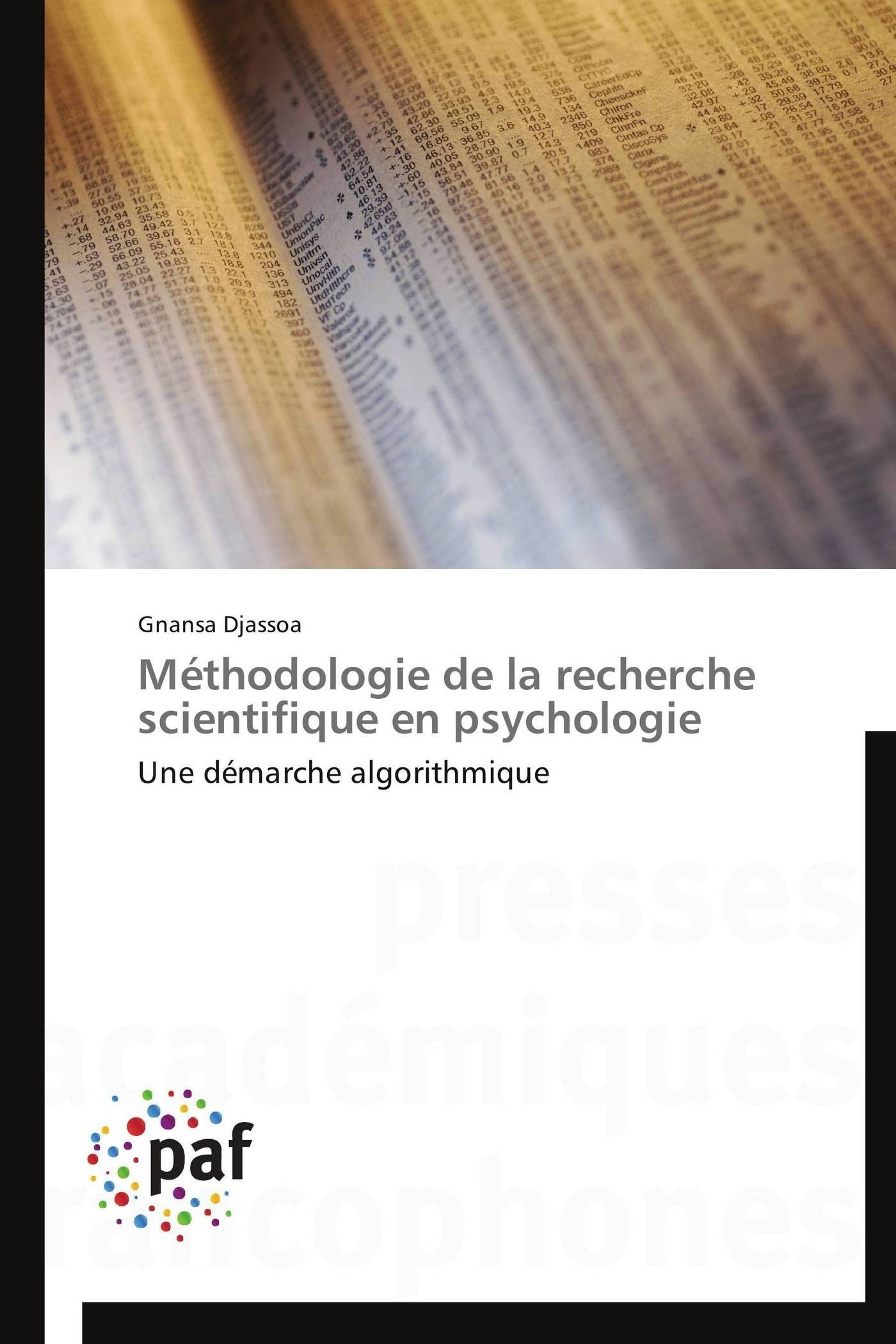 METHODOLOGIE DE LA RECHERCHE SCIENTIFIQUE EN PSYCHOLOGIE